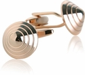 Conical Cufflinks in Rose Gold