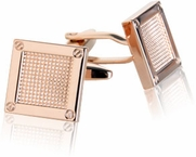 Contemporary Rose Gold Cufflinks