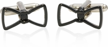 Cool Black Bow Tie Cufflinks