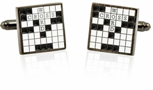 Crossword Puzzle Cufflinks