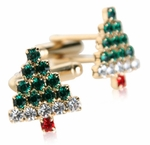 Crystal Christmas Cufflinks