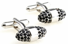 Crystal Cone Cufflinks in Black