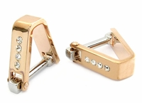 Crystal Cufflinks Rose Gold