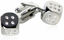 Crystal Dice Cufflinks