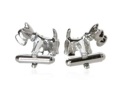 Crystal Dog Cufflinks