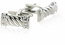 Crystal Rope Cufflinks