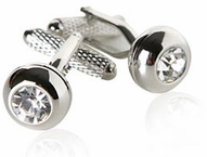 Crystal Stud Cufflinks