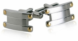 Cuff-Daddy Cufflinks with Gold Accents