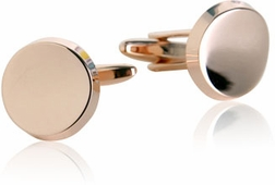 Curved Rounds in Rose Gold Cufflinks
