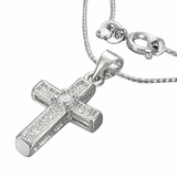 CZ Fashion Cross Includes FREE necklace