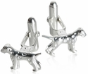 Dalmation Dog Cufflinks in Sterling Silver