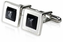 Dark Gray Glass Cufflinks