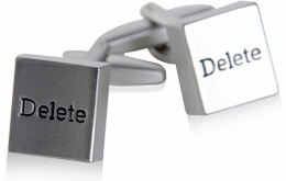 Delete it All Cufflinks