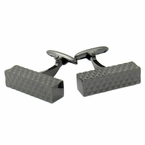 Diamond Bar Gunmetal Cufflinks