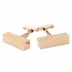 Diamond Bar Rose Gold Cufflinks