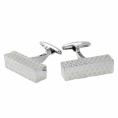 Diamond Bar Silver Cufflinks