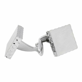 Diamond Edge Silver Cufflinks