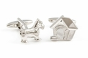 Doghouse & Dog Cufflinks