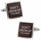 Don't Grow Up Cufflinks