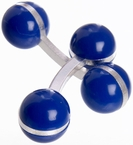 Double Ball Cufflinks Blue