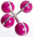 Double Ball Cufflinks Cerise