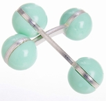 Double Ball Cufflinks Pastel Green