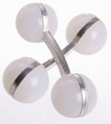 Double Ball Cufflinks Pastel White