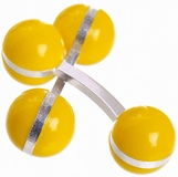 Double Ball Cufflinks Yellow