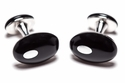 Double Black Onyx Silver Cufflinks