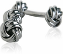 Double Knot Gun Metal Cufflinks