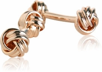 Double Knot Rose Gold Cufflinks