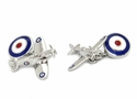 Double Sided Spitfire Cufflinks