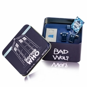 Dr. Who Tardis Cufflinks, Money Clip, Tie Tack Gift Set