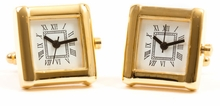 Elegant Gold Watch Cufflinks