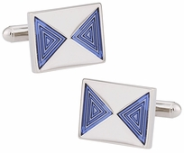 Elegant Purple Cufflinks