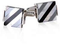 Elegant Striped Cufflinks (ON BACKORDER)