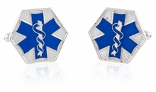 EMT Star of Life Blue Cufflinks