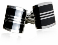Enamel Cufflinks in Black