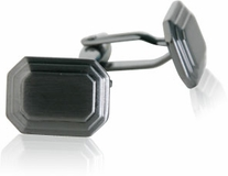 Engravable Gun Metal Cufflinks