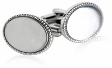 Engravable Stainless Wedding Cufflinks