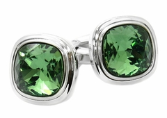 Erinite Green Crystal Cufflinks