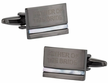 Father of the Bride Cufflinks with Mother of Pearl