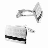 Father of the Groom Cufflinks with Onyx