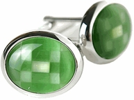 Fiber Optic Green Cufflinks