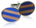 Fiber Optic Oval Cufflinks