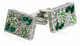 Filigree Cufflinks in Green