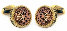 Filigree Gold Stainless Steel Cufflinks