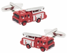 Fire Engine Fireman Cufflinks