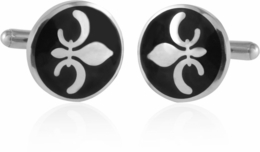 Fleur De Lis Cufflinks in Stainless Steel