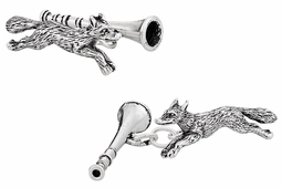 Fox & Horn Cufflinks in Sterling Silver